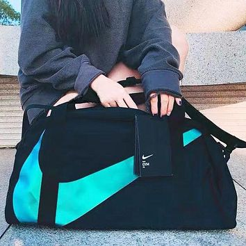 NIKE Fashion New  Hook Print Couple Shopping Leisure Shoulder Bag Crossbody Bag Luggage Bag Black