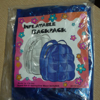 1990's Inflatable Vinyl Backpack Blue