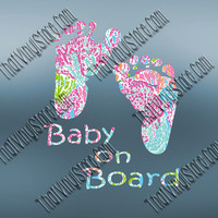 Preppy Pattern Baby On Board Decal | Mommy Life Decal | Mother Decal | Baby Family Decal | Newborn | Love Girl Boy | New Baby | New Mom |357