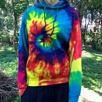 rainbow sweat hoodie hippie tie dye swirl by moot
