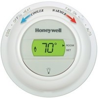 Honeywell T8775C1005 Digital Round Heat and Cool THERMOSTAT, Honeywell T8775C1005, Digital Round, Heat and Cool, Honeywell Thermostat,