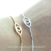 Evil eye bracelet. Summer Items.Guardian symbol Jewelry.The lamp of the heart