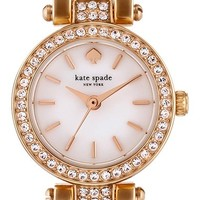 Women's kate spade new york 'tiny gramercy' crystal bezel bracelet watch, 20mm