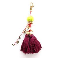 Tassel and Shell Bag Accessory