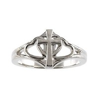 Women's Christian 0.925 Sterling Silver Abstinence Covenant Hearts Purity Ring for Girls