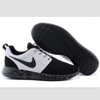 Fashion Online Nike Roshe Run Couple Light Sports Leisure Net Surface Breathable Olympic Running Shoes Black-toe Cap (black Starry Sky Soles)