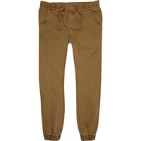 River Island MensBrown slim joggers