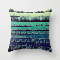 Tissue - Green Yellow Throw Pillow by Rose Étiennette