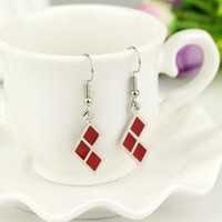 Suicide Squad Harley Quinn Earrings for Women Accessories Trendy Dangle Earring