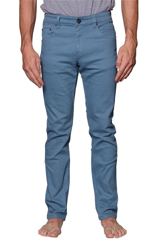 Image of Men's Skinny Fit Colored Jeans (French Blue)