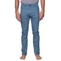 Men's Skinny Fit Colored Jeans (French Blue)