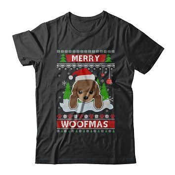 Poodle Merry Woofmas Ugly Christmas Sweater