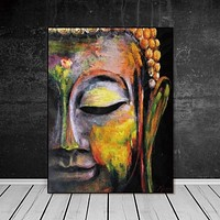Wall Art Pictures Canvas Painting  home decor Wall poster decoration for living room prints vivid Buddha face on canvas no frame