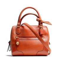 Coach :: Poppy Mini Satchel In Textured Patent Leather