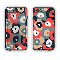 The Bulky Colorful Flowers Apple iPhone 6 LifeProof Nuud Case Skin Set