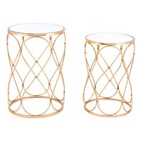 A11527 Twist Set Of 2 End Tables Gold