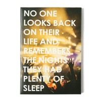 No One Looks Back Wall Canvas | Icing