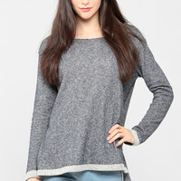 Perforated Cross Cutout Sweatshirt