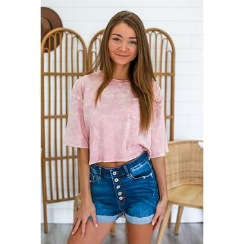 What You Know Crop Top - Blush