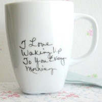 Personalized Coffee Mug - Custom Tea Cup- Unique Coffee Cup Mug-Quote present- First Anniversary Gift