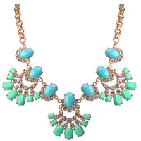 Fan Floral Statement Trendy Western Flower Style Necklace