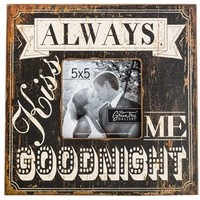 "5"" x 5"" Black & White Always Kiss Me Frame 