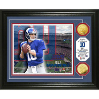 Eli Manning Gold Coin Photo Mint