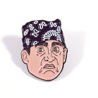The Office Prison Mike Enamel Pin