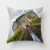 York Castle Throw Pillow by Karl Wilson Photography