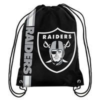 Oakland Raiders Official NFL Team Logo Drawstring Backpack