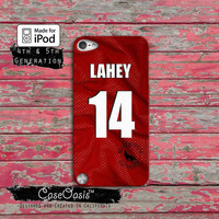 Teen Wolf Lahey Lacrosse Jersey Beacon Hills Red Case iPod Touch 4th Generation or iPod Touch 5th Generation Rubber or Plastic Case