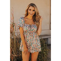 Bed Of Flowers Floral Romper (Ivory/Multi)