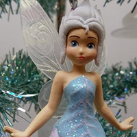 Disney Tinker Bell Tinkerbell Periwinkle Wings Fairy Christmas Ornament PVC Figure