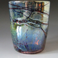 Blown Drinking Glass Blown Glass Tumbler by HorkoverGlass on Etsy