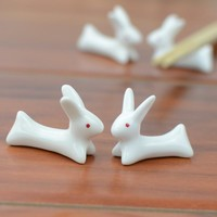 Lovely Little Rabbits Chopstick Rest 6 pcs Set