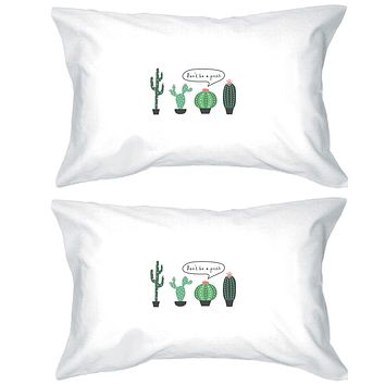 Don't Be a Prick Pillowcases Standard Size Funny Pillow Covers Gift
