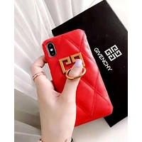 Givenchy 2019 new iPhone7plus leather phone case cover Red