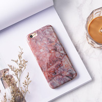6S 4.7 Fashion Pink Marble Phone Case for iPhone 7 6s 6 6Plus 6+ 7 plus Soft TPU Silicon Funda Cases Back Cover -0324