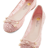 ModCloth Darling Painting the Roses Pink Flat