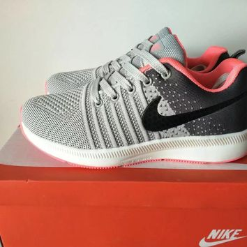 """Nike"" Women Sport Casual Multicolor Flyknit Sneakers Running Shoes"