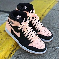 Inseva AJ1 Nike Air JORDAN 1 Colorblock Couple Pink Sneakers Shoes