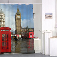 London Big Ben special custom shower curtains that will make your bathroom adorable