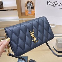 YSL embroidered accordion bag shoulder bag crossbody bag