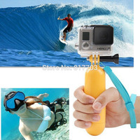 Yellow Water Floating Hand Grip Handle Mount for Gopro