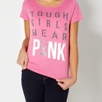 Tough Girl Wear Pink Awareness Tee | Graphic Tees | rue21