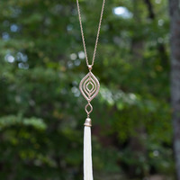 Stay With Me Necklace - White