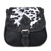 New Women Synthetic Leather Messenger Bag Leopard Flap Casual Party Shoulder Bag