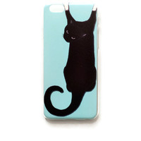iPhone 6 Case Black Cat iPhone 6 Hard Funny Back Cover For iPhone 6 Humor Slim Design Case Animal Cat 9823