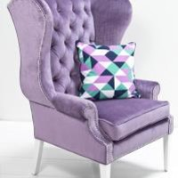 www.roomservicestore.com - Swan Wing Chair in Lavender Velvet