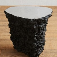 Lava Stone Side Table by Anthropologie in Black Size: One Size Furniture
